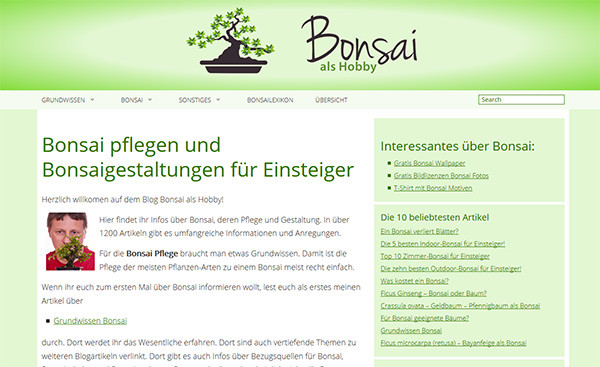 Blog: Bonsai als Hobby