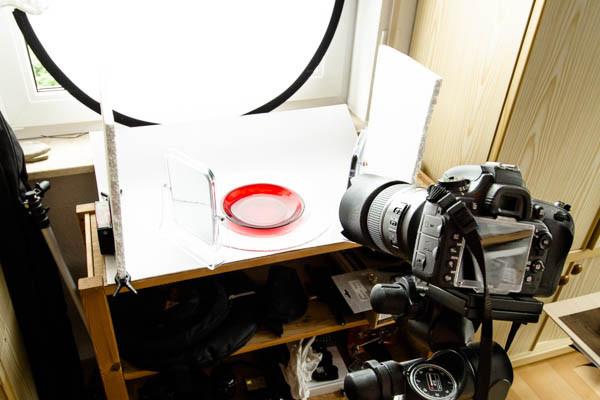 Reflektoren aus Styropor und Spiegel in der Makrofotografie