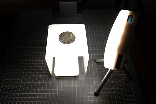Lichtsetup für die Münzenfotografie